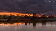 Befor sunrise at Angkor Wat by balazoviclubos Angkor Wat Cambodia, Before Sunrise, Landscape Photos, Tourism, Sky, Vacation, Sunset, World, Amazing