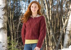 Classic Elite Yarns Drop Stitch Pullover Designed by Susan Mills Mohair US 10 Needles