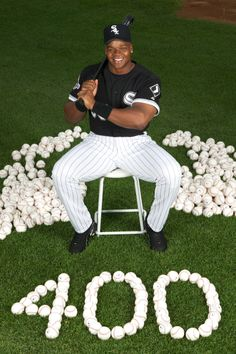 Frank Thomas joined the 400-homer club on July 25, 2003. Photo credit: Ron Vesely