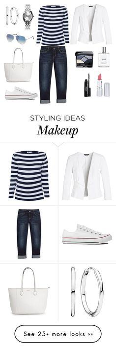 """Untitled #525"" by gallant81 on Polyvore featuring moda, White House Black Market, Converse, Pandora, Nixon, Ray-Ban, Christian Dior, Laura Geller, philosophy y HoneyBee Gardens"