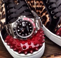 men's accessories....louboutin sneakers and rolex