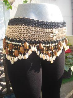 Tribal Beige con negro. Bellydance danza arabe fajillas y cinturones en México CDMX por Danar.