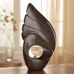 Shona Dancing Crane Sculpture