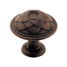 Amerock BP53027 Padma 1-5/16 Inch Diameter Mushroom Cabinet Knob Antique Rust Cabinet Hardware Knobs Mushroom