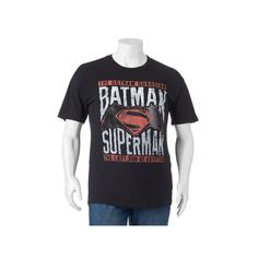 Big & Tall DC Comics Batman vs. Superman Tee, Men's, Size: Xl Tall, Black