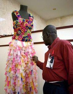 Vestido de condones | Los 14 vestidos de boda más locos de todos los tiempos