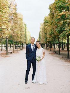 Elegant, romantic Paris elopement   Wedding Sparrow