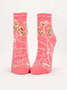 Blue Q Vegan Ankle Socks (You're So Fresh) – Alternative Outfitters Vegan Store