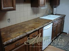 poured in place concrete countertop