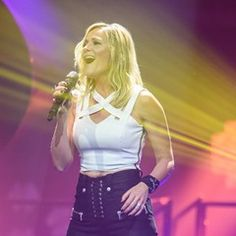 German singer Helene Fischer performs on stage in Munich
