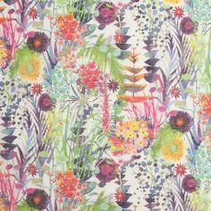 Liberty of London Tresco White/Multicolor Silk-Cotton Voile Fabric by the Yard | Mood Fabrics Scarf??