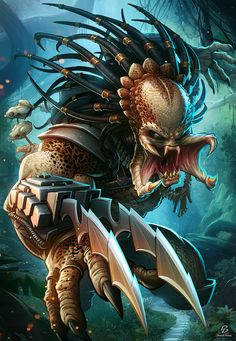 The Predator - Digital Art - Fribly - The Predator Digital Art Character Drawings Fan Art Movies & TV Paintings & Airbrushing Predator - Alien Vs Predator, Predator Movie, Predator Alien, Art Alien, Alien Film, Anime Alien, Patrick Brown, Pat Brown, Deadpool Wallpaper