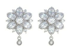 Cheap earrings cat, Buy Quality earring color directly from China earring crystal Suppliers: Moonso Luxury AAA zircon Rose Gold Mona Lisa Plated brincos Stud Earring for women Jewelry Plugs Earrings, Stone Earrings, Diamond Earrings, Stud Earring, Wedding Earrings Studs, Prom Earrings, Flower Earrings, Wedding Jewelry, Women Jewelry