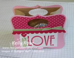 Kelly Rose, Independent Stampin' Up! Demonstrator: Valentine Treat Bag with Stampin' Up! Top Note Die