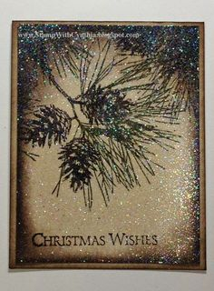 Beautiful card using Ornamental Pine from the Stampin' Up! 2014 Holiday Catalogue