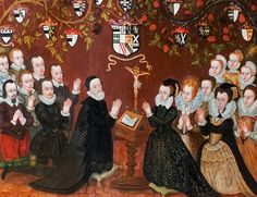 1601 Mary Towneley (1541-1606) in 1557, married her cousin, John Towneley of Towneley Hall, Lancashire (1528-1607). They had 14 children