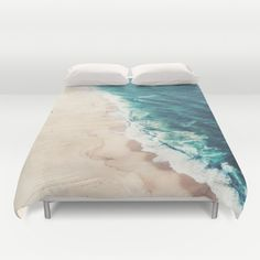 Beach Nazare Duvet Cover by Ingrid Beddoes | Society6