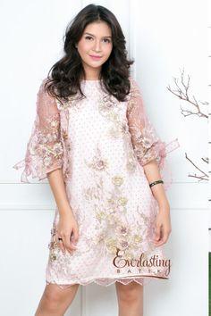 CA.29217 Pink Samara Lace Dress - Joyfull Day Collection by Everlastingbatik.co.id