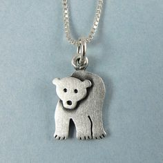 bef007da19f4 Polar bear necklace by StickManJewelry on Etsy