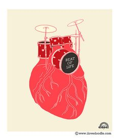 Oh my gosh.... A pic showing two of my favorite things? Anatomy AND a drum set? awesomeness.... To the beat of my heart.