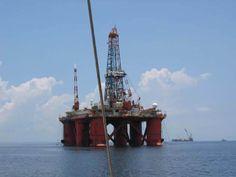 Oil derrick off Trinidad