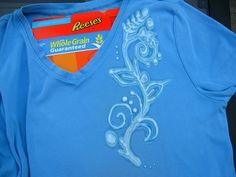 Bleach pen reverse-dying shirts - great to salvage a shirt that got an accidental splash of bleach.