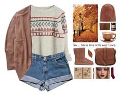 """""""Fall"""" by alex-fox1 ❤ liked on Polyvore featuring moda, Wilfred, UGG Australia, Rochas, J.Crew, Aesop, Fall, cute, Sweater y shorts"""