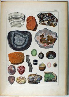 Kurr, Johann Gottlob von Mineralreich in Bildern III Crystals Minerals, Rocks And Minerals, Stones And Crystals, Nature Prints, Art Prints, Essential Oil Candles, Nature Posters, Mineralogy, Rock Collection