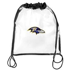 Baltimore Ravens NFL Clear Drawstring Backpack