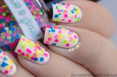 Glitter nail polish - Neon Matteness by Let it glitter! @ Etsy
