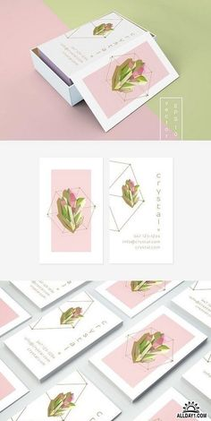 Crystal business card template 1153708