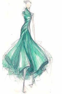 Fashion illustration... I love this dress!!