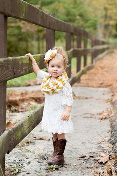 Little girls in cowboy boots