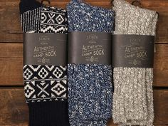"J. Crew Camping Socks --if by ""camping socks"" they mean ""sit by the fireplace and drink hot cocoa socks"" then I'm golden"