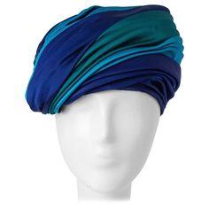 60s Christian Dior Silk Satin Turban  1