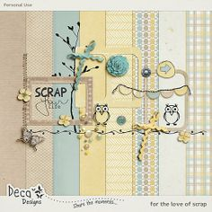 Quality DigiScrap Freebies: For the Love of Scrap mini kit freebie from Deca Designs