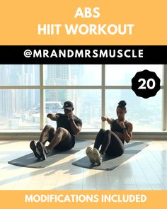 Try this 10 minute Abs & Core Workout with LOW IMPACT modifications. Get ready to sweat buckets! Pin, Share and Tag your workout partner! -- # Try this 10 minute Abs & Core Workout with LOW IMPACT modifications. Sixpack Workout, Full Body Hiit Workout, Hiit Workout At Home, Ab Core Workout, Gym Workout Videos, Workout Challenge, At Home Workouts, Workout Partner, Oblique Workout