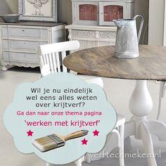 Alle tips & trucs over werken met krijtverf op www.verftechnieken.nl