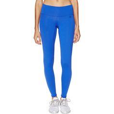 Body Language Sportswear Basic Leggings ($45) ❤ liked on Polyvore featuring pants, leggings, blue, leggings pants, knit leggings, elastic waist knit pants, blue leggings and panel leggings