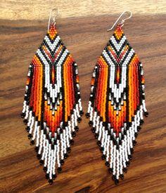 Sun Fire Earrings by wildmintjewelry on Etsy, $85.00