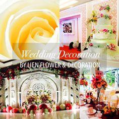 #Wedding Decoration by Lien Flower & Decoration www.liengallery.com  #liengallery #weddingindonesia #weddingdecor #dekorkawin #dekor_perkawinan