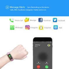 Iotton Fitness Tracker acts as an alarm for incoming calls or massages. The bracelet will vibrate to remind you when your phone receives a call/SMS, ensuring you never miss a call or message. Waterproof Fitness Tracker, Instagram And Snapchat, Android Smartphone, Smart Watch, Monitor, Messages, Activities, Bracelet, Smartwatch