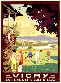 Vintage Travel Poster - France - Roger Soubie: Vichy 1928