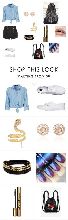 """idk"" by ktbspa-and-loveislove on Polyvore featuring moda, Vans, Nam Cho, Vita Fede, Yves Saint Laurent, Monki y Pierre Balmain"