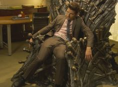 Parks and Recreation - Ben Wyatt and the iron throne