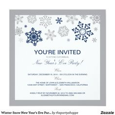 Fancy floral grand opening invitation lavender grand opening winter snow new years eve party invitation navy stopboris Gallery