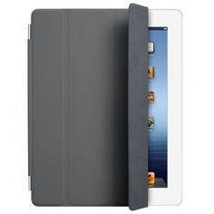 Apple Polyurethane Smart Cover for iPad - Dark Gray Unique Gadgets, Gadgets And Gizmos, Ipad Accessories, Computer Accessories, Support Ipad, Tall Cabinet Storage, Locker Storage, Retina, Cover Gray