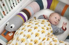 """DIY or buy: """"Mr. Snake"""" bed bumper from Ferm Living. Not in the crib, but I would love this somewhere in the nursery!"""
