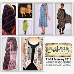 The Saffron Saga @ Times Ethnic Fashion Village invites you all to visit our stall no. 58 from 11th to 14th February 2016. World Trade Centre, Cuffe Parade. #Mumbai #Exhibition #Amazing #Offers #Ethnic #Home #Shopping #Fashion