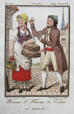 1805, Homme et Femme de Vienne en autriche